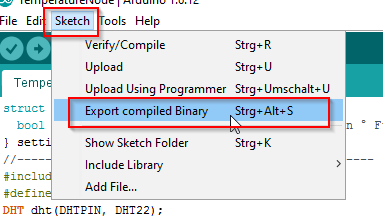 How to get the binary-file